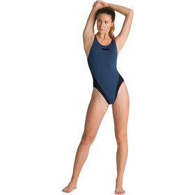 arena Solid Swim Tech High Traje de baño de una pieza Mujer, shark/black